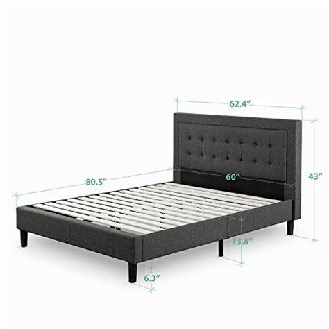 Platform Bed Support Slats Zinus Upholstered Button Tufted Premium Platform Bed Strong Wood Slat Support Grey