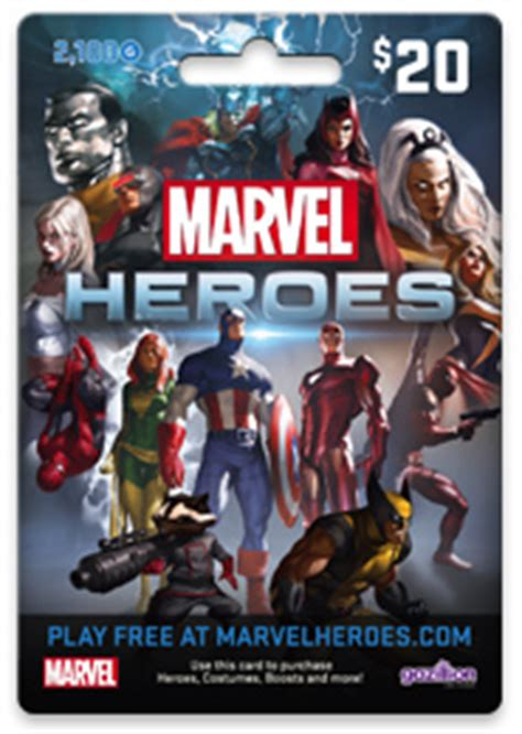Marvel Heroes Gift Card - marvelheroes store locator