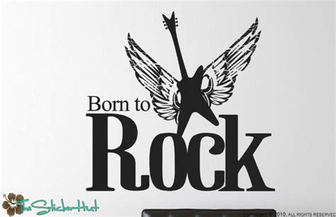 Born To Rock born to rock guitar thestickerhut