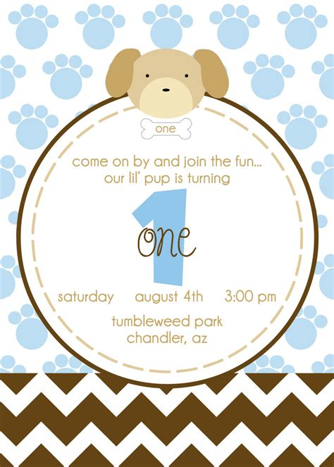 Printable Party Invitation Puppy Dog Party By Petitepartystudio Puppy Invitation Template