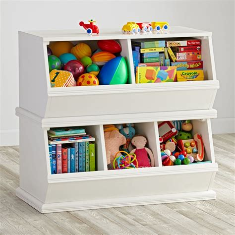 kid storage storagepalooza kids stacking toy storage the land of nod