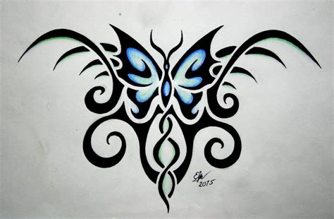 tribal butterfly tattoo design by esmeekramer on deviantart