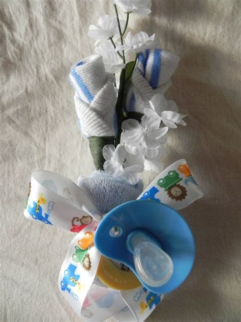 baby boy blue expecting baby shower corsage
