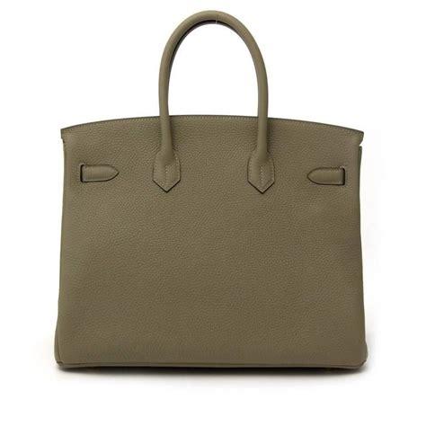 Hermes Birkin Clemence Bags Minitas Branded brand new hermes birkin 35 taurillon clemence sauge ghw at 1stdibs