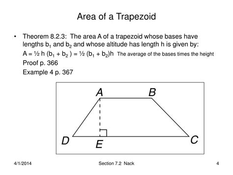 area of a section ppt section 8 2 perimeter and area of polygons