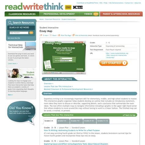 Essay Map Read Write Think by Read Write Think Persuasive Essay Map Docoments Ojazlink