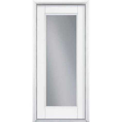 Steel Exterior Doors Home Depot Masonite Premium Lite Primed Steel Prehung Front Door With Brickmold 27600 The Home Depot