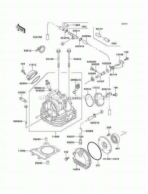 kawasaki bayou 220 engine diagram automotive parts