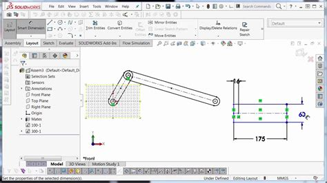 layout design solidworks solidworks layout assembly design youtube