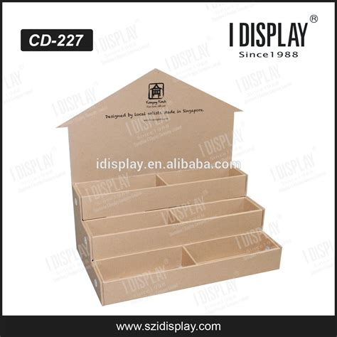 greeting card display stand template pop small cardboard box pop template counter display box