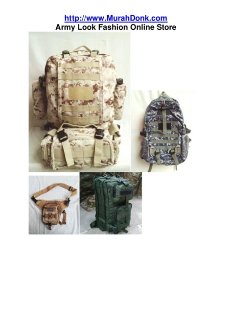Jual Ransel Army Kaskus www murahdonk jual tas army jual ransel army tas
