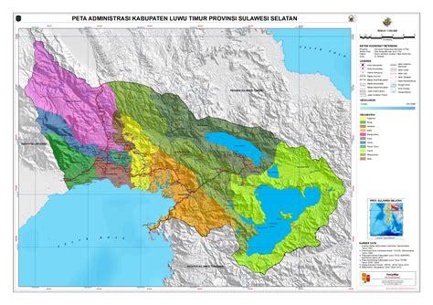 Digital Globe Kutai Timur 20152016 administrasi kabupaten luwu timur peta tematik indonesia