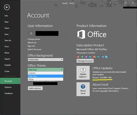 office 365 themes black mamba office 2016 latest update black theme windows 10 forums