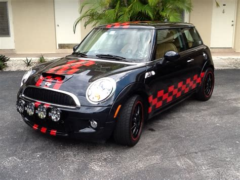 custom mini cooper mini cooper racing stripes fort lauderdale florida