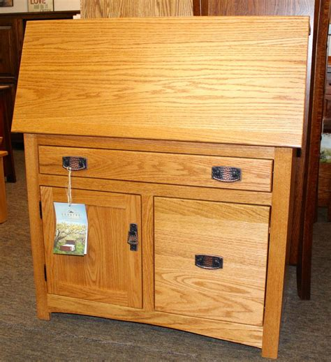 desk with file drawer mission large desk with file drawer amish