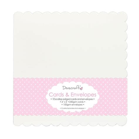 6x6 card envelope template dovecraft 10 die cut scallop edged 6x6 cards envelopes