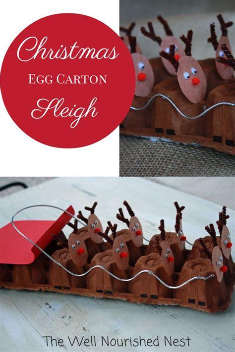 christmas egg carton sleigh craft pictures photos and
