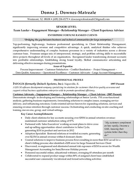 Relationship Manager Resume Sle by Banks Resume Opening Sales Banking Lewesmr