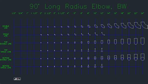 Drawing 90 Degree Autocad by Buttweld 90 Degree Radius