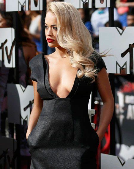 hanna f model nipple slip rita ora s cleavage takes centre stage as she steps out