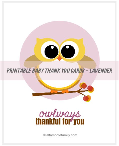 printable owl thank you cards free printable baby owl thank you cards altamonte family