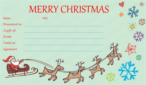 templates for christmas gift certificates free christmas gift certificate templates google search