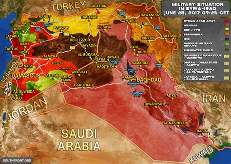 Military Situation In Syria And Iraq On June 28, 2017 (Map ... Iraq 2017
