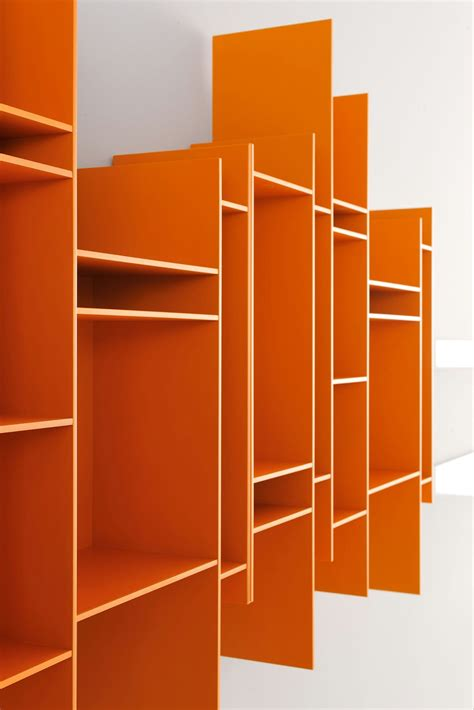 libreria de pared librer 237 a abierta de pared de mdf randomito by mdf italia