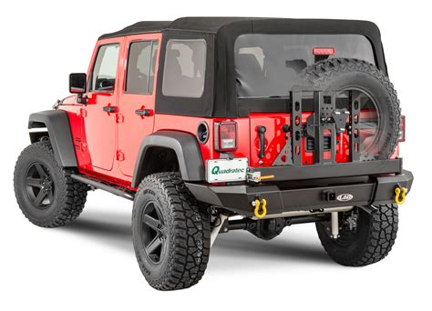 standard jeep wrangler lod standard signature series full width rear bumper and