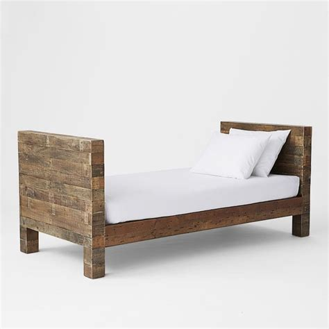 wooden day bed emmerson daybed rustic daybeds by west elm
