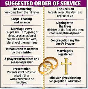 christian wedding order of service template now you can your children baptised when you