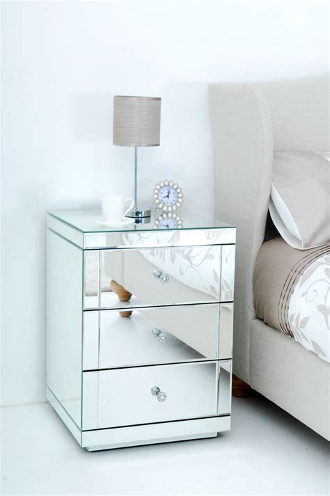 Modern Mirrored Nightstands Mirrored And Pretty Modern Nightstands White