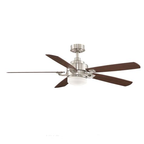 ceiling fans overstock fanimation benito 52 inch brushed nickel 1 light ceiling fan