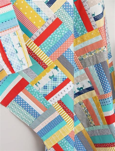 Quilting Strips by Scrappy Strips Quilt Tutorial Cluck Cluck Sew