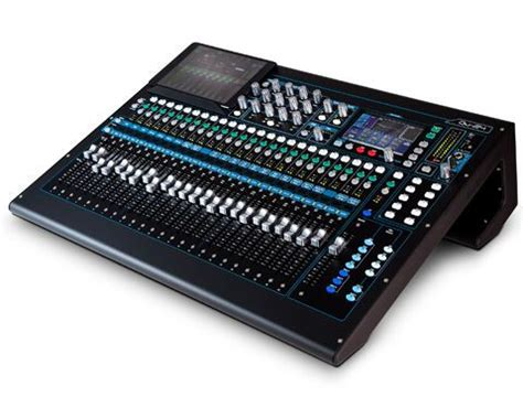 allen and heath console allen and heath qu24 chrome digital mixing console