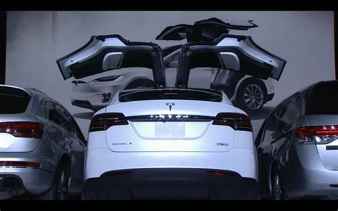 Tesla Model X Introduction Tesla Model X Spreads Its Falcon Wings Production