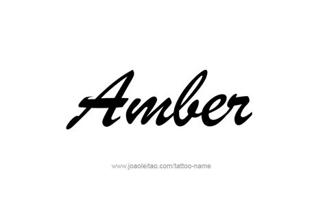tattoo ideas for the name amber amber color name tattoo designs tattoos with names