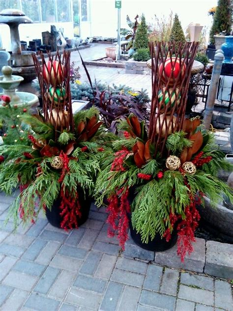142 best winter container gardens wreaths images on