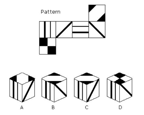 thought pattern quiz management aptitude tests spatial ability tests