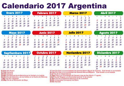 calendario escolar argentina 2017 2018 feriados 2017 argentina calendario 2017 que pasa