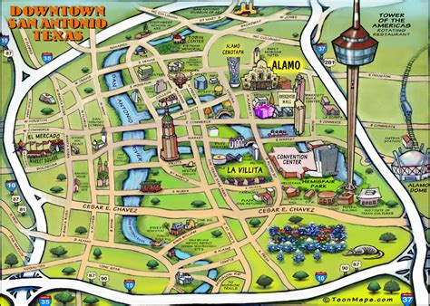 san antonio texas riverwalk map downtown san antonio texas map