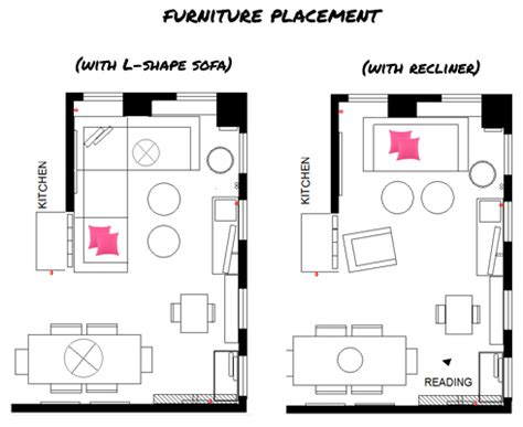 shaped living room furniture placement  page     style