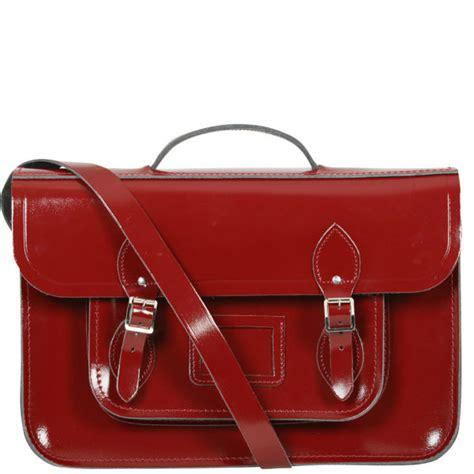 Brompton Bag Cambridge Satchel Oxblood the cambridge satchel company 15 inch leather satchel oxblood patent