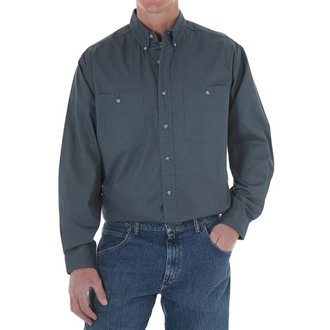 Rugged Mens Shirts by Wrangler Rugged Wear Wrinkle Free Poplin Shirt For