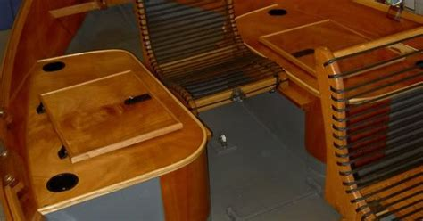 drift boat seat ideas wood drift boat project finally ready to launch