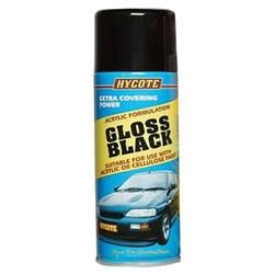 hycote concept gloss black aerosol 400ml spray paint