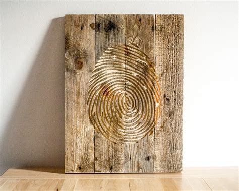 wooden wall hanging fingerprint wall art carved wooden wall hanging for a