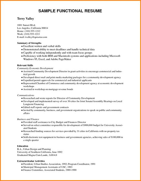 4 curriculum vitae english exle pdf cashier resumes