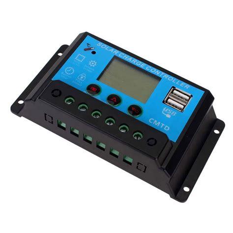 Multi Regulator Tv 10a 20a lcd display 12v 24v pwm solar panel battery charger controller dual usb ebay
