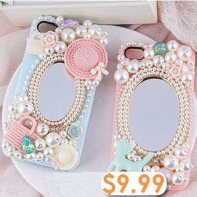Handcrafted Phone Cases - country fresh style with mirror diy handmade phone